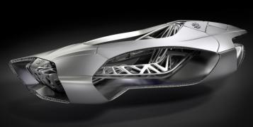 Futuristisches Auto-Konzept aus dem 3D-Drucker