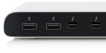 Thunderbolt Dock mit nur einem Kabel am Mac