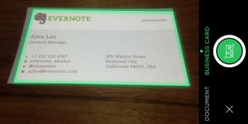 Evernote wird zum mobilen Visitenkartenscanner