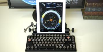 Qwerkywriter – Mechanische Tastatur im Schreibmaschinen-Design
