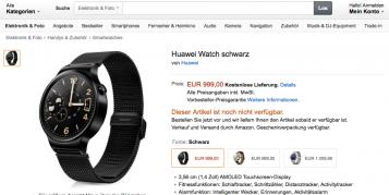 Huawei Watch: Moto 360-Klon kostet knapp 1.000 Euro - bereits auf Amazon vorbestellbar