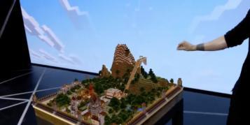 E3: Microsoft projiziert Minecraft per Virtual Reality-Brille auf den Tisch