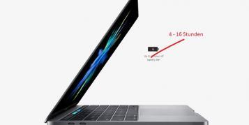 """MacBook Pro 2016 für """"inkonsistente Akkulaufzeit"""" kritisiert"""