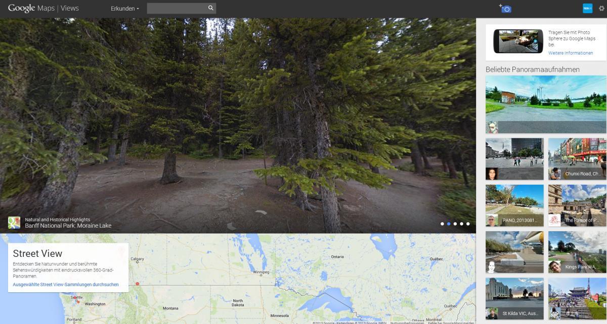 Eigene 360-Grad-Bilder in Google Street View einbinden | TECH.DE
