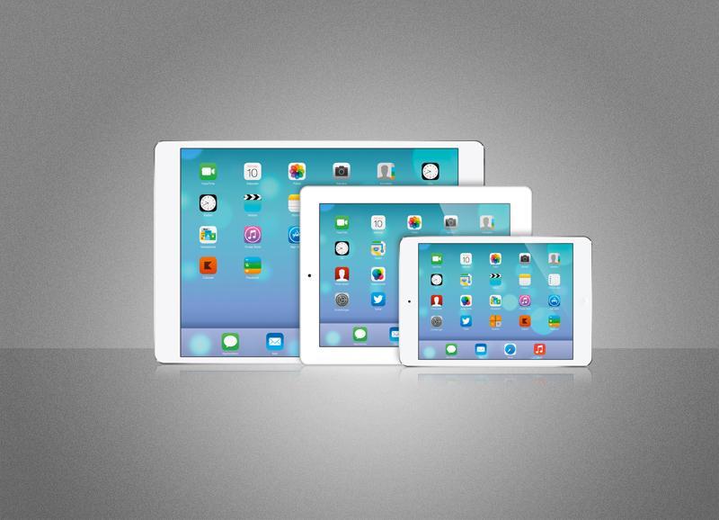 ipad pro kommt ein tablet mit bildschirm in notebook. Black Bedroom Furniture Sets. Home Design Ideas