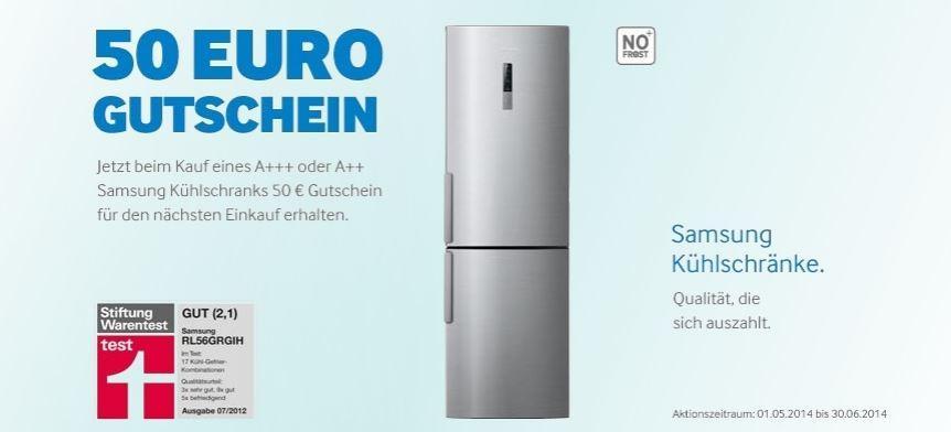 Samsung-Kühlschrank kaufen und 50 Euro Gutschein erhalten | TECH.DE