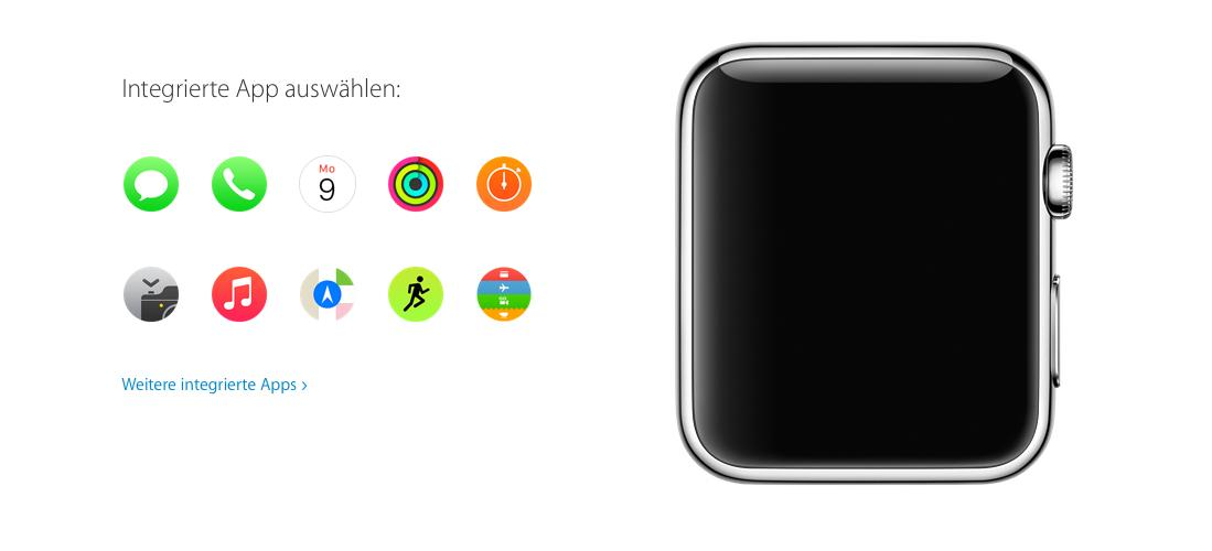 apple watch app store online und erste apps f r. Black Bedroom Furniture Sets. Home Design Ideas