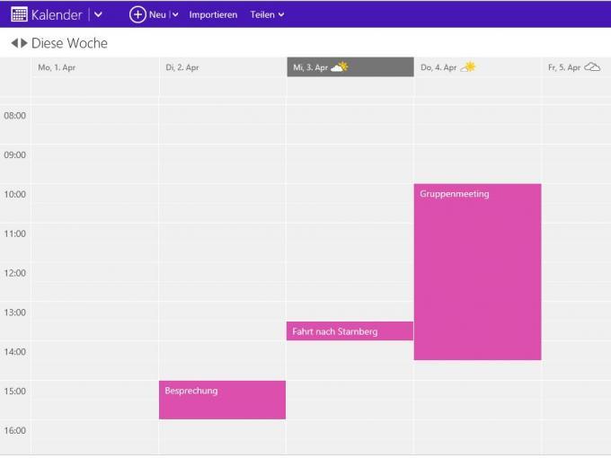 Der Kalender in Outlook.com kommt im neuen Look daher und passt zur Designsprache von Microsoft