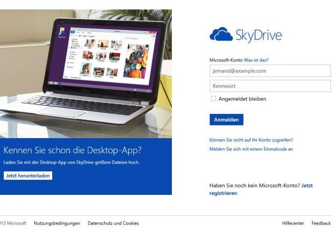 Kostenlos und bei Windows 8 dabei: Der Cloud-Dienst SkyDrive von Microsoft