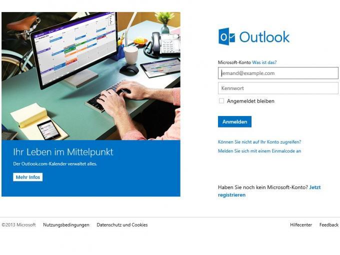 Outlook.com und Microsoft-IDs erhalten neue Funktionen