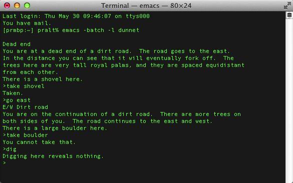 Dunnet ist ein Text-Adventure aus den 80er-Jahren.