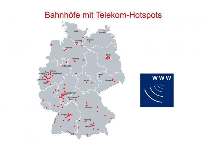 Telekom bietet kostenloses WLAN an Bahnhöfen an