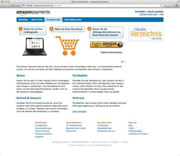 Inzwischen stellt Amazon mit seinem OnlineBezahlSystem eine ernsthafte Konkurrenz zu PayPal dar.