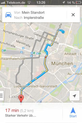 how to draw a route in google maps app