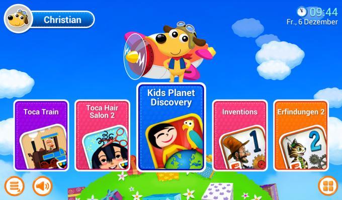 Kindermodus: Kinder können hier einen eigenen Startbildschirm mit App-Verknüpfungen und buntem Hintergrund gestalten.