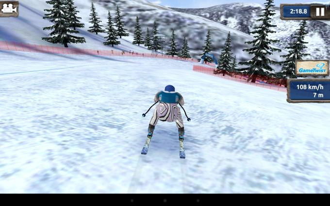 """Auch grafikintensive Spiele wie """"Ski Challenge"""" gibt das Xperia Z ohne Ruckeln wieder."""