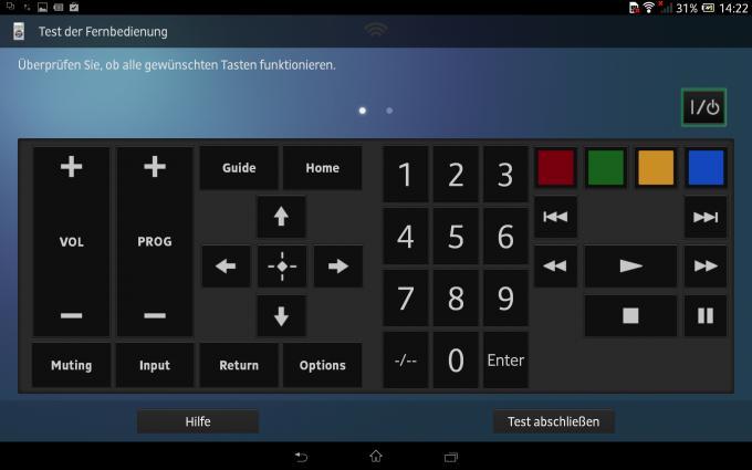 Das Sony Xperia Z lässt sich auch als Fernbedienung für das TV-Gerät verwenden. Auch Fernseher anderer Hersteller sind ansteuerbar.