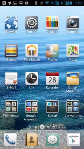 Emotion UI ist die Benutzeroberfläche, die Huawei über das Betriebssystem legt. Sie kommt ohne App Drawer und verteilt neu installierte Apps direkt auf den Homescreens.