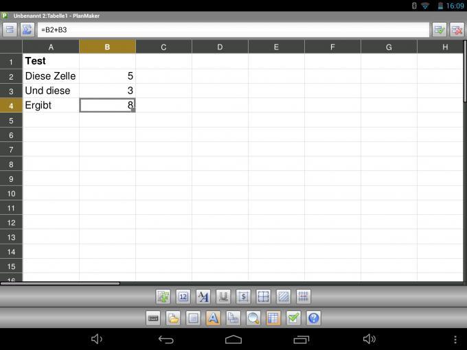 Das vorinstallierte Paket Softmaker Office bietet grundlegende Funktionen.