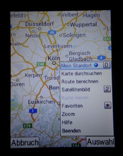 Dank GPS und Java-Google Maps könnt Ihr mit dem Catphone auch navigieren – komfortabel ist es allerdings nicht
