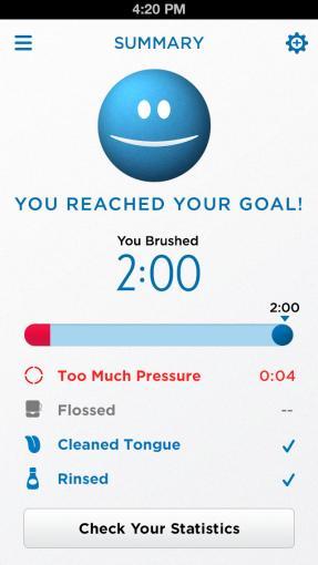 App der Oral-B Smartseries