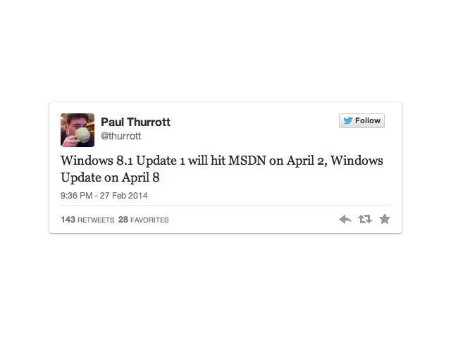 Windows 8.1 Update 1 bestätigt: Am 8. April kommt verbesserte Navigation