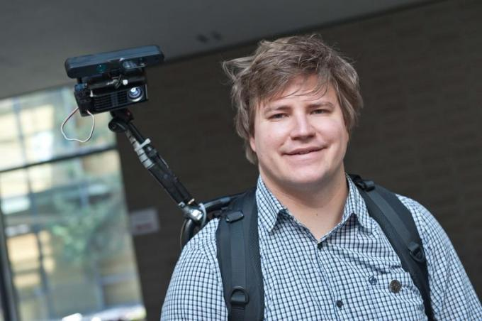 Christian Winkler, wissenschaftlicher Mitarbeiter am Ulmer Institut für Medieninformatik, hat eine neue Projektionstechnik entwickelt