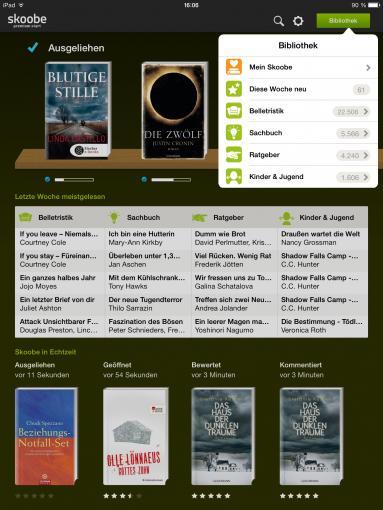 Wer gerne und viel liest, sollte unbedingt das tolle Angebot von Skoobe ausprobieren.