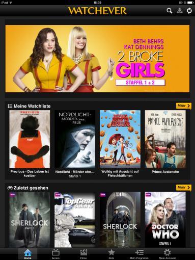 Watchever ist der derzeit beste deutsche Video-On-Demand-Anbieter hinsichtlich Funktionen und Angebot.