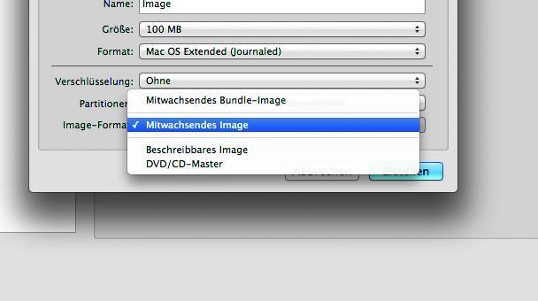 """Format festlegen I: Gebt dem Image einen Namen und wählt unter """"Image-Format"""" die Option """"Mitwachsendes Image"""" aus."""