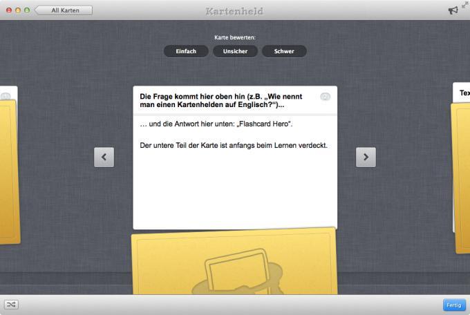 Kartenheld  Preis: 8,99 Euro Sprache: Deutsch Bezug: Mac App Store System: OS X 10.7  Note: 2,7