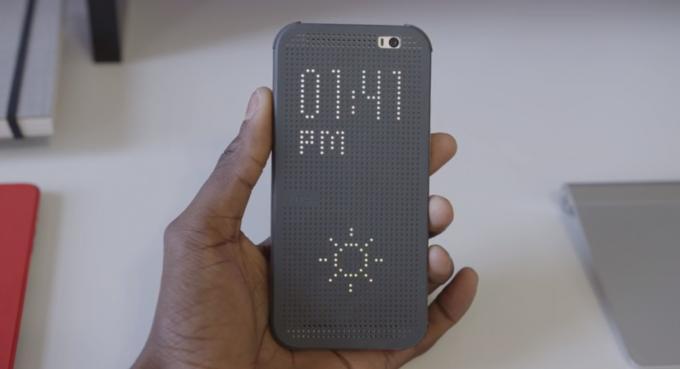Dot View Case: LED-Display für das HTC One (M8)