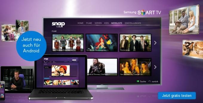 Online-Videothek Sky Snap: Exklusiv auf Samsung Galaxy-Geräten nutzen