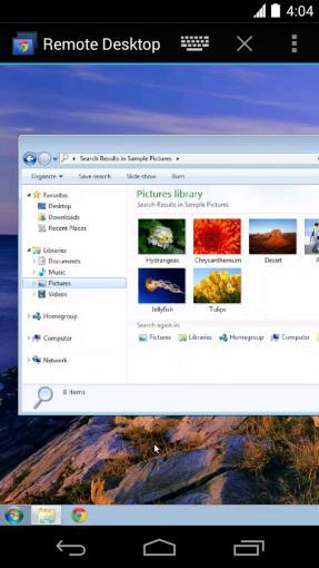 Chrome Remote Desktop auf Android