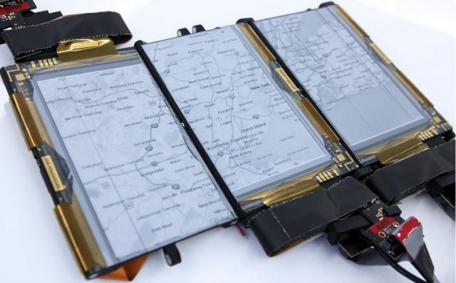 PaperFold: Smartphone mit drei beweglichen ePaper-Displays