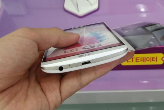 Dummie des LG G3 in Telefon-Laden entdeckt