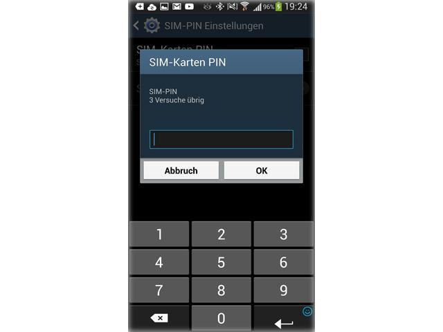 Galaxy S5: PIN-Code der SIM-Karte ändern