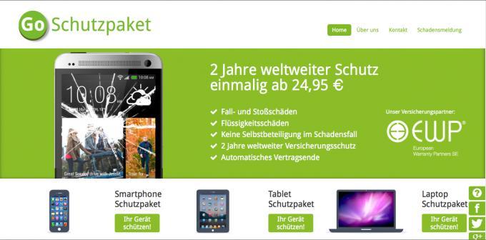 Bei GoSchutzpaket geht die Kaufpreisspanne von 100 Euro bis 3.000 Euro