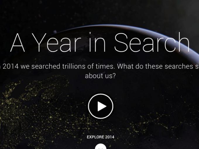 Year in Search - früher Google Zeitgeist