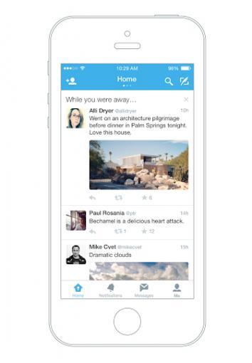 """Twitter hat ein neues Feature namens """"While you were away"""" vorgestellt. Diese Funktion stellt die Top-Tweets zusammen, die der User verpasst hat, während er die Twitter-App nicht genutzt hat."""