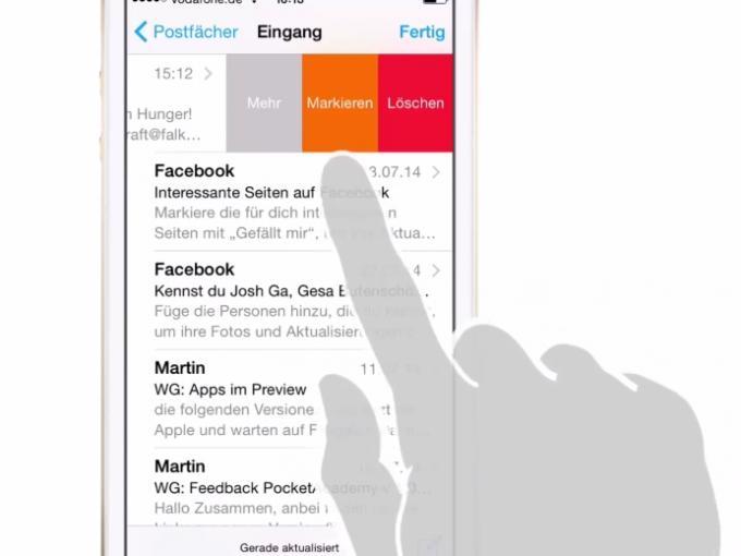 Die Mail-App von iOS hilft Ihnen beim Verwalten Ihrer E-Mails