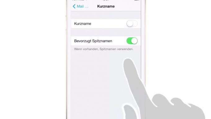 Das iPhone kann auch Spitznamen verwenden