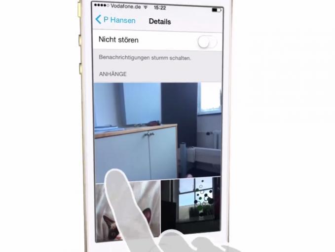 Sie können sich in iOS alle Bilder einer Konversation anzeigen lassen