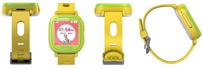 Die Smartwatch ist sehr leicht und bunt