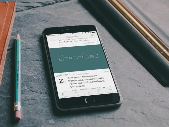 tickerfeed ist ein Feed-Reader mit hervorragender Push-Funktion