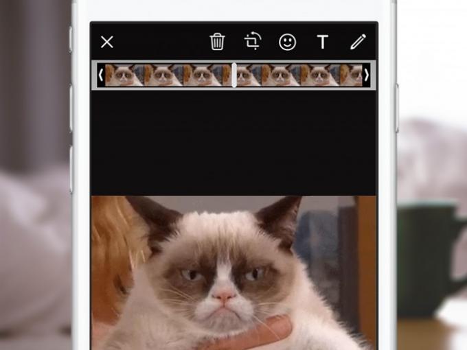 Bisher muss man GIFs in der Fotogalerie auswählen