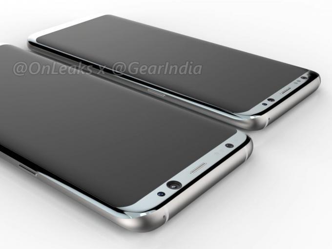 Renderbilder zeigen das Galaxy S8