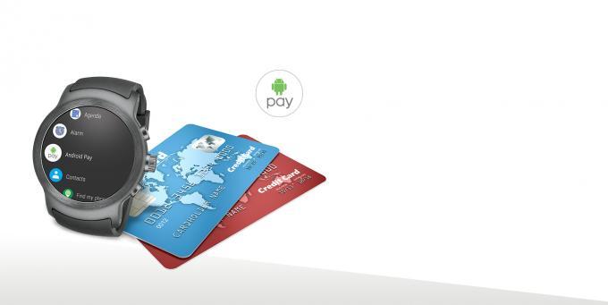 Android Pay gibt es auf der Uhr ebenfalls