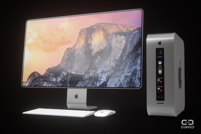 Entwurf Mac Pro 2018 mit Bildschirm