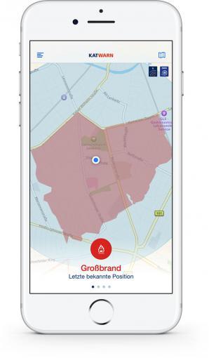 Großbrand-Alarm in Katwarn
